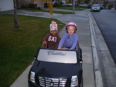 Journey and Cousin Alexa taking a morning cruise!