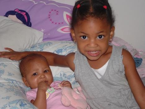 Kiara 6 months, Kaleah 3 years