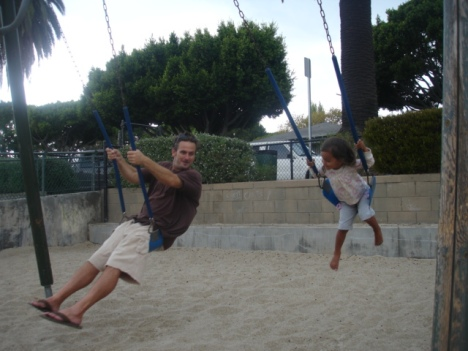 Daddy and Journey swingin' high!