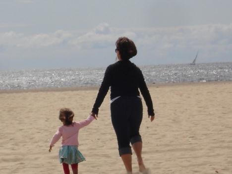 Journey and NaNa walking on Venice Beach